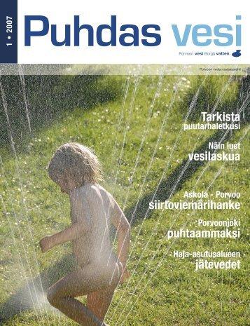Puhdas vesi 1/2007 - Porvoo