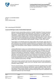 Liite: Porvoon kaupungin lausuntoehdotus Helsingin seudun ...