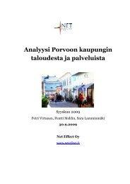 Analyysi Porvoon kaupungin taloudesta ja palveluista (pdf)