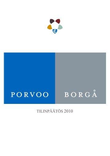 TILINPÄÄTÖS 2010 - Porvoo