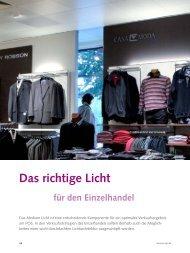 Das richtige Licht für den Einzelhandel - POS+SIGN