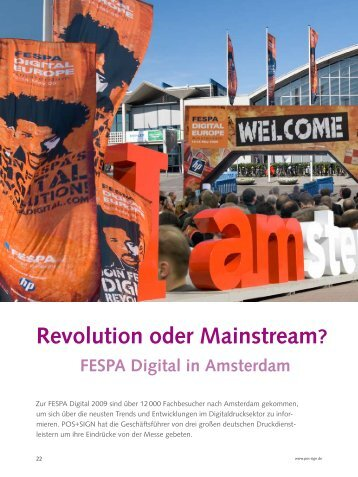 FESPA Digital in Amsterdam - POS+SIGN