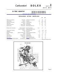 Carburatori S O L E X - Abarth-e-Co