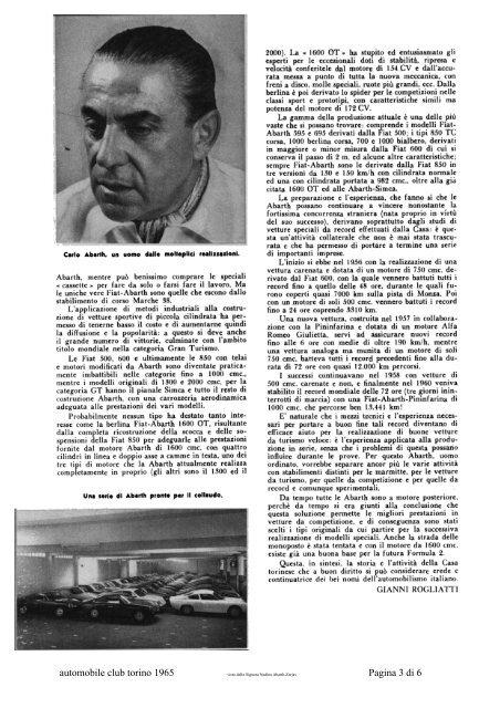 automobile club torino 1965 Pagina 1 di 6 - Abarth-e-Co