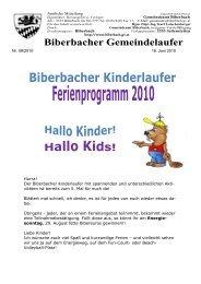 Biberbacher Gemeindelaufer - Gemeinde Biberbach