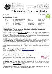 Nr - Gemeinde Biberbach
