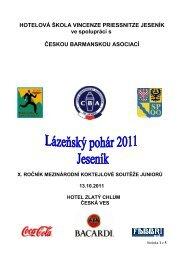 lázeňský pohár 2011 jeseník - Česká barmanská asociace