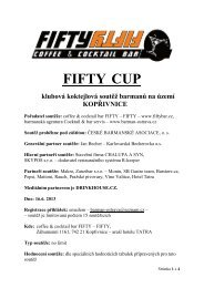 FIFTY CUP - Česká barmanská asociace