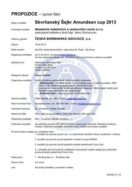 skvrňanský šejkr 2013 - Česká barmanská asociace