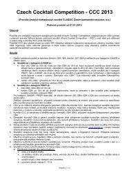 CCC - pravidla CZ 2013 - Česká barmanská asociace