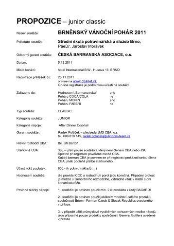 brněnský vánoční pohár 2011 - Česká barmanská asociace