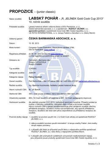 labský pohár 2013 - Česká barmanská asociace