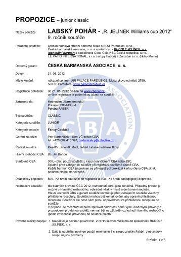 LABSKÝ POHÁR 2012 PARDUBICE - Česká barmanská asociace