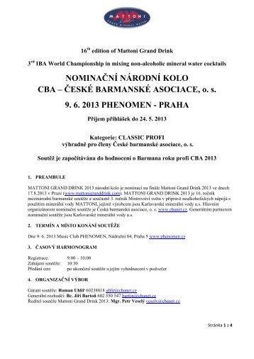 mattoni grand drink 2013 - Česká barmanská asociace