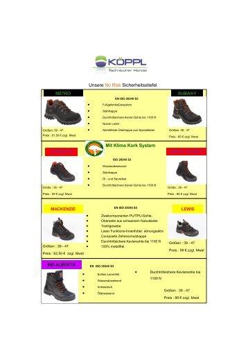 Mit Klima Kork System Unsere No Risk ... - Köppl GmbH