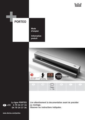 PORTEO_Mode_d'Emploi_Complet - Courant faible et contrôle d ...