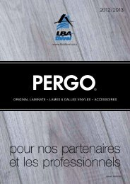 Catalogue LBA THIVEL / PERGO 2012-2013