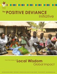 From the Inside Out - Local Wisdom, Global ... - Positive Deviance