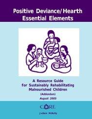 CORE Group, Positive Deviance / Hearth Essential Elements