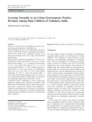 Growing Normally in an Urban Environment: Positive Deviance ...
