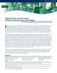 Ending Female Genital Cutting - Positive Deviance Initiative
