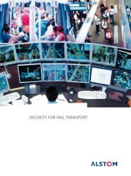 SECURITY FOR RAIL TRANSPORT - Alstom