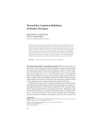 Toward the Construct Definition of Positive Deviance