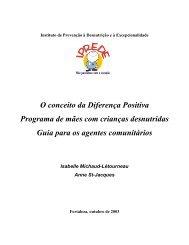 O conceito da Diferença Positiva Programa de mães com crianças ...