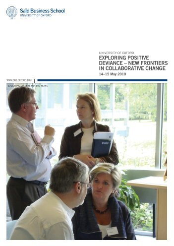 exploring positive deviance – new frontiers in collaborative change