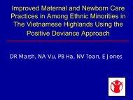 PART I - Positive Deviance Initiative