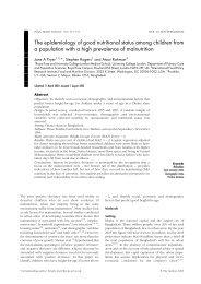 The epidemiology of good nutritional status among children - BVSDE