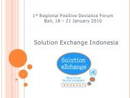 Solution Exchange Indonesia - Positive Deviance Initiative