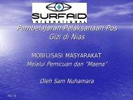 Pembelajaran Pelaksanaan Pos Gizi di Nias - Positive Deviance ...