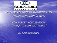 Sam Nuhamara, Surfaid International - Positive Deviance Initiative