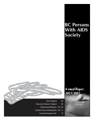 Annual Report 2001-2002 - Positive Living BC