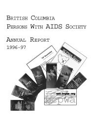annual report 1996 - 1997 - Positive Living BC