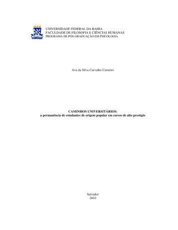 CAMINHOS UNIVERSITÁRIOS - Programa de Pós-Graduação em ...