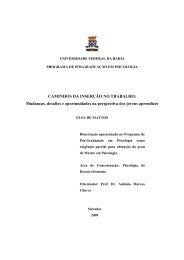 Caminhos da inserção no trabalho - Programa de Pós-Graduação ...