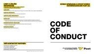kódex správania a etický kódex österreichische post ag
