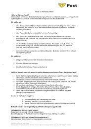 FAQs zu ADRESS CHECK 1 Was ist Adress.Check? Adress.Check ...