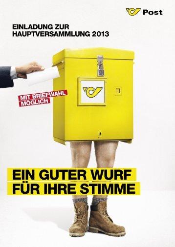 Informationsfolder zur Briefwahl - Österreichische Post AG