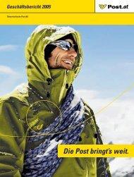Geschäftsbericht 2005 - Österreichische Post AG