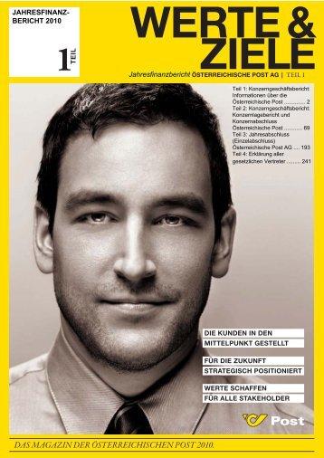 Jahresfinanzbericht - Österreichische Post AG