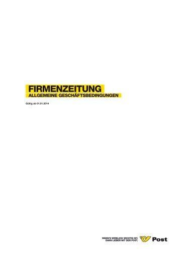 AGB - Firmenzeitung - Österreichische Post AG