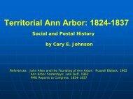 Territorial Ann Arbor: 1824-1837 - National Postal Museum