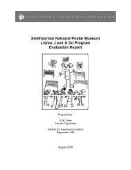 Listen, Look & Do Program Evaluation Report - National Postal ...