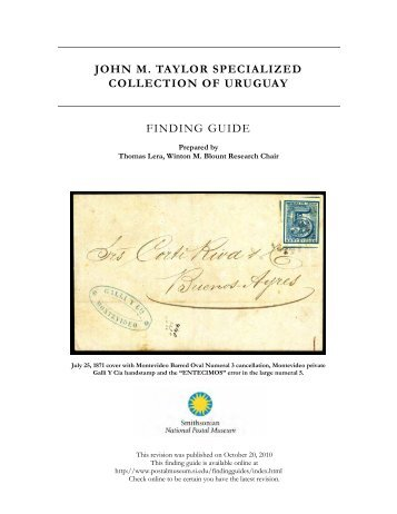 John M. Taylor Specialized Collection of Uruguay - National Postal ...