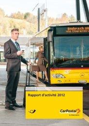 Rapport d'activité 2012 - CarPostal