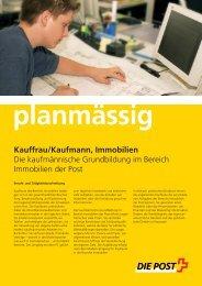 planmässig Kauffrau/Kaufmann, Immobilien