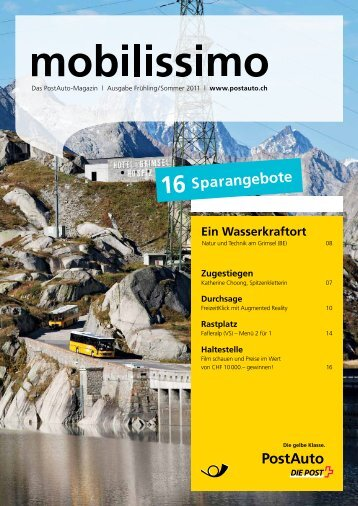 mobilissimo Frühling/SommerLink wird in einem neuen ... - Postauto